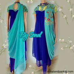 Shop this #drap #style at sonalandpankaj.com Whatsapp for more details at +919669166763
