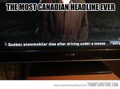 Canadian headline...