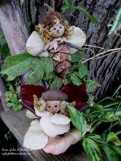 Make Fairies & Angels free from natural materials! http://ourfairfieldhomeandgarden.com/diy-project-fairies-for-free/