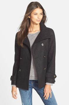 Thread & Supply Double Breasted Peacoat | Nordstrom $29
