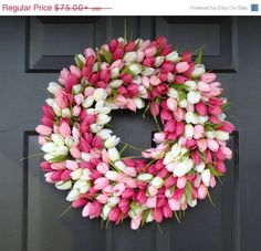 Custom Spring Wreath Spring Decor by ElegantWreath
