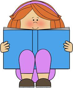 Child Reading Clip Art - Child Reading Image