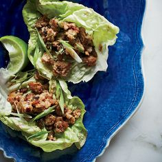Sweet and Sour Pork in Lettuce Cups