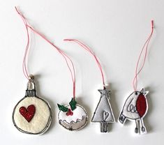 Miniature Christmas Decorations - Pack of 4 £10.00