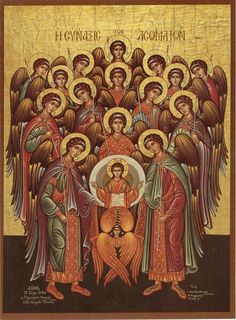 Iconography of the Angels and Other Bodiless Powers Order Of Angels, Angels Among Us, Religious Icons, Religious Art, Seven Archangels, Byzantine Icons, Saint Michel, Heaven And Hell, Catholic Art