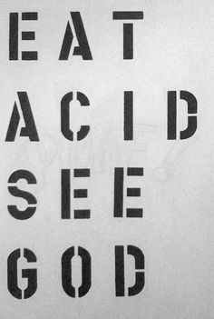 Eat acid see god flyer
