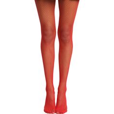 Hot Topic Blackheart Red Fishnet Tights ($2.47) ❤ liked on Polyvore featuring intimates, hosiery, tights, red, fishnet hosiery, red stockings, red hosiery, red tights and red pantyhose