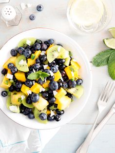 This blueberry summer fruit salad is a whisk, stir and go kind of recipe. Weeknight meal prep, we're looking at you!