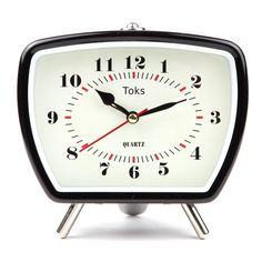 "Amazon.com: Lily's Home Vintage/Retro Inspired Analog Alarm Clock, Black 5.5"": Home & Kitchen"