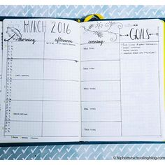 """This month's """"future log"""" @bohoberry0530 style! I love how this breaks up my day…"""
