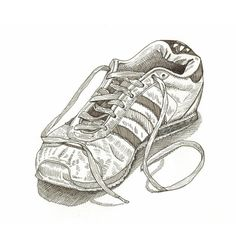 Shoe  contemporary original fashion by FrancescaWhetnall on Etsy, £1.00  Cool Drawing!!!!  Love the realism.