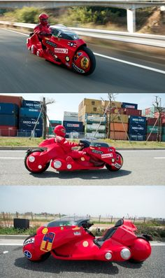 An exact, full functioning replica of Kaneda's Motorcycle from Akira; one of the most ground breaking Anime of all time (a Manga, later becoming a movie that basically put Anime on the map in the US back in the 80's). This ride gained instant recognition by Akira's creator. Priced at a hefty ¥10,000,000 ($121,000 USD), the Motorcycle took 7 years to construct and is now used for Autism Awareness. Check out a video of it in action: http://www.youtube.com/watch?v=Ubdd5duliMU=related