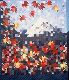 Joen Wolfrom's Playing with Color: Celebrating Fall with Quilts Arts And Crafts Storage, Arts And Crafts For Teens, Art And Craft Videos, Arts And Crafts Furniture, Arts And Crafts House, Easy Arts And Crafts, Landscape Art Quilts, Landscapes, Quilt Modernen