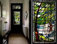 Stephen Weir Stained Glass is a Glasgow based company specialising in the design, manufacture and repair of quality stained glass, painted glass & fused glass windows Stained Glass Mirror, Leaded Glass Windows, Stained Glass Designs, Glass Panels, Mosaic Glass, Fused Glass, Glass Front Door, Glass Doors, Window Design