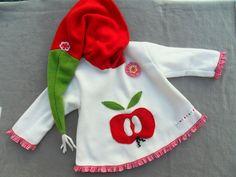 Apfel Jacke Apple  Zipfeljacke  Zipfelpullover von Zellmann Fashion auf DaWanda.com