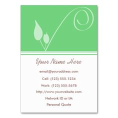 Seed Of Inspiration Profile Business Card