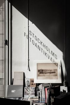 Stockholms Fotoantikvariat, a shop for rare and used photography books - Emmas Designblogg