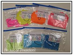 How to keep your math cards organized in a preschool, pre-k, or kindergarten classroom.  Pocket of Preschool