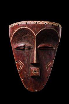 "Face mask ""minyangi"", D. R. Congo, Pende Kasai, Pende (East)"