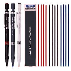 12 in each tube Tube Black 24 Leads 0.7mm HB Mechanical Pencil Leads Refill Quality Hi-Polymer Branded Leads In A Handy Dispenser 2 Packs of 12 Leads