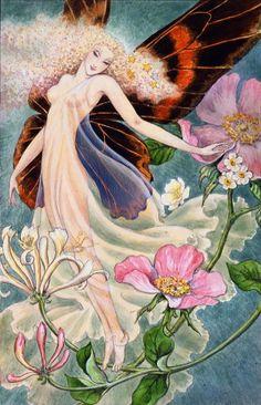 *+*Mystickal Faerie Folke*+*... Butterfly Fairy... By Artist Kinuko Y. Craft -- via eBay...