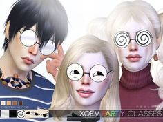 The Sims Resource - XOEV Party Glasses by Praline Sims for The Sims 4