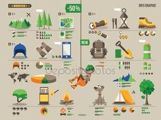 Download - Mountain and camping set — Stock Illustration #30958617