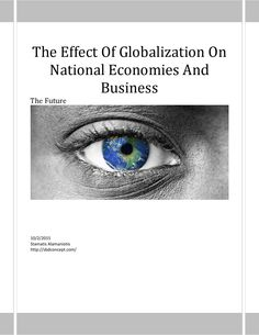 How globalization is affecting national economies(f)