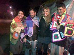 Primera entrega mantas solidarias