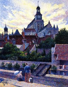 Maximilien Luce - Gisors Cathedral, View from the Fossé aux Tanneurs,1898