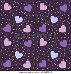 Abstract seamless pattern for girls. Creative vector background with hearts. Funny wallpaper for textile and fabric. Fashion style. Colorful bright picture for children.