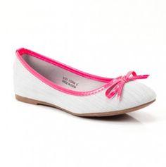 Pink & White Ballet Flat. Way cute!