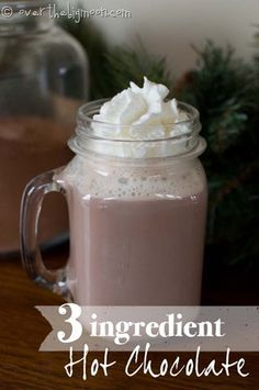 Make this hot cocoa mix from 3 simple ingredients. Its so simple and creamy! And how to take this perfect base and turn it into so many other fun flavors...caramel, mint, coconut cream....
