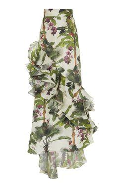 This **Johanna Ortiz** Oasis Town Silk Organza Skirt features an a-line shape and a high rise waist. Skirt Outfits, Dress Skirt, Style Classique, Evening Dresses, Formal Dresses, Silk Organza, Designer Dresses, High Waisted Skirt, Waist Skirt