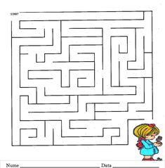 Labirint - Planse de colorat si educative Education, Onderwijs, Learning