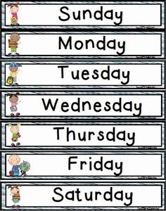 Days of the Week Freebie! Teacher's Take-Out