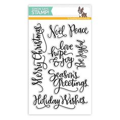 SIMON SAYS STAMPS Simon Says Clear Stamps BIG SCRIPTY GREETINGS HOLIDAY sss101548 STAMPtember sss101548
