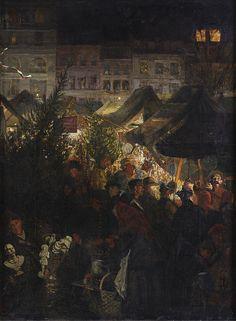 The Christmas Market in Berlin Rixdorf by Georg Schöbel (1860»1930), um 1904