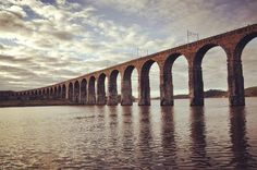 The incredible #railway #viaduct over the #River #Tweed at #Berwick-Upon-Tweed. This structure is called the #Royal Border #Bridge and was built by #engineer George Stephenson with construction taking only 3 years between 1847 and 1850. The viaduct carries the East Coast Main Line #ECML the main railway link between #London and #Edinburgh. #Northumberland #England #Scotland #Autumn #travel #tourism #tourist #leisure #life #trains