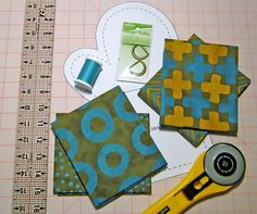 Quilted Oven Mitts in Simple Marks for Moda Fabrics
