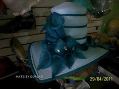blue sinamay hat