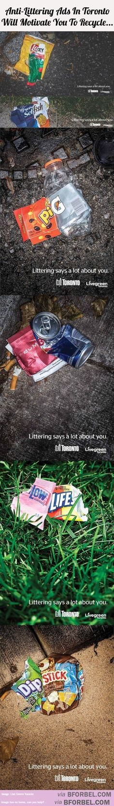 6 Anti-Littering Ads In Toronto Will Motivate You To Recycle…
