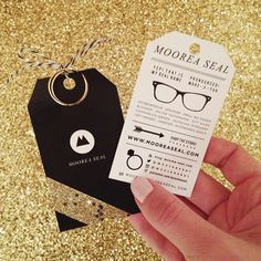 These are my blingy business cards that I designed myself.  I cut them to look like tags and attached a pretty ring to each one to give out at #AltSummit.  I finished off my black and white business card with gold glitter tape.  Ta da!  #blackandwhite #businesscard #creativebusinesscard