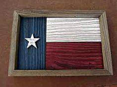Framed Texas Flag from barn wood