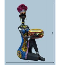 Nigro Lady Candle Stand Statue@ Rs 600/-  http://www.krafthub.com/nigro-lady-candle-stand.html
