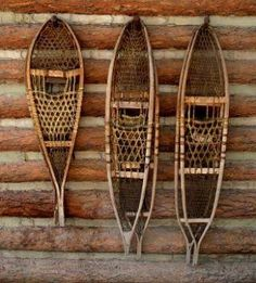 Wood Snow Shoes There Are So Many Possibilities For Snowshoe Decor But I Think