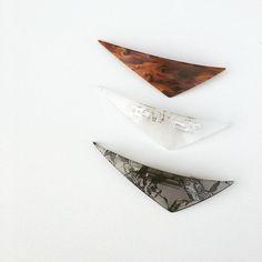 ながーーい バレッタ  boomerang barretta  と名付けました  販売はまだ先ですが HMJには持って行きたいなーと思っています   #ブーメランバレッタ #boomerangbarrette