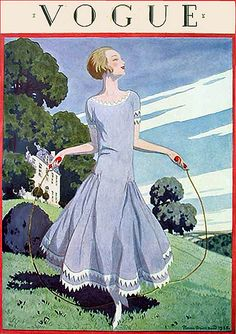 1920s Vogue cover - looks like something Lady Mary would wear!
