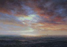 Thomas Kegler Sea Dusk, Luke 19:10 Oil