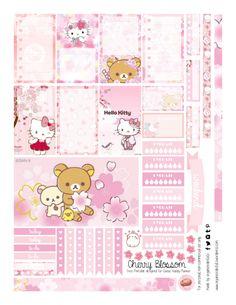 Free Printable Sakura Planner Stickers from Organized Potato